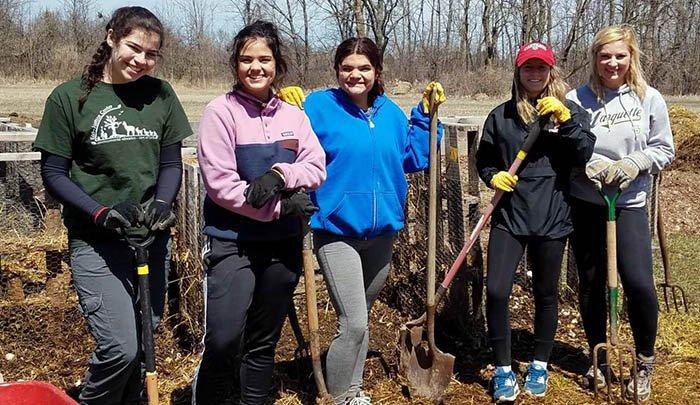 Volunteers at Eco-Justice Center of Racine